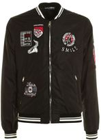 Dolce & Gabbana Patch Embellished Bomber Jacket