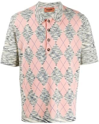 Missoni Argyle Print Polo Shirt