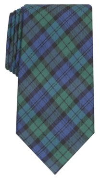 Club Room Men's Black Watch Tie, Created for Macy's