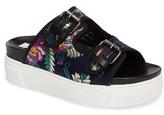 Steve Madden Women's Jace Embroidered Platform Slide Sandal