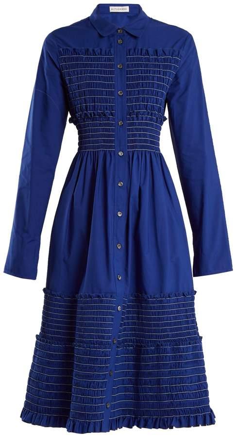 Altuzarra Louane button-through cotton-poplin dress
