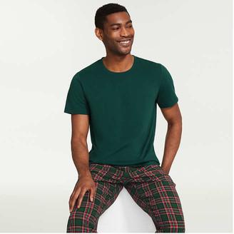 Joe Fresh Men's 2 Piece Flannel Sleep Set, Dark Green (Size L)