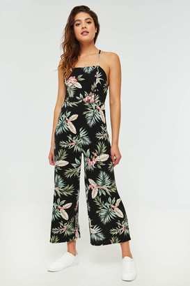 Ardene Laced Back Floral Jumpsuit