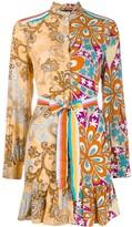 Pinko Contrast Print Shirt Dress