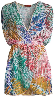 Missoni Mare Palm Print Hooded Faux-Wrap Cover-Up