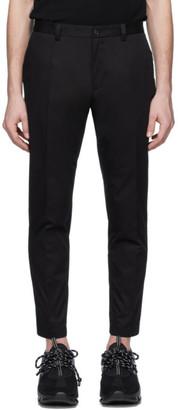 Dolce & Gabbana Black Gabardine DNA Trousers