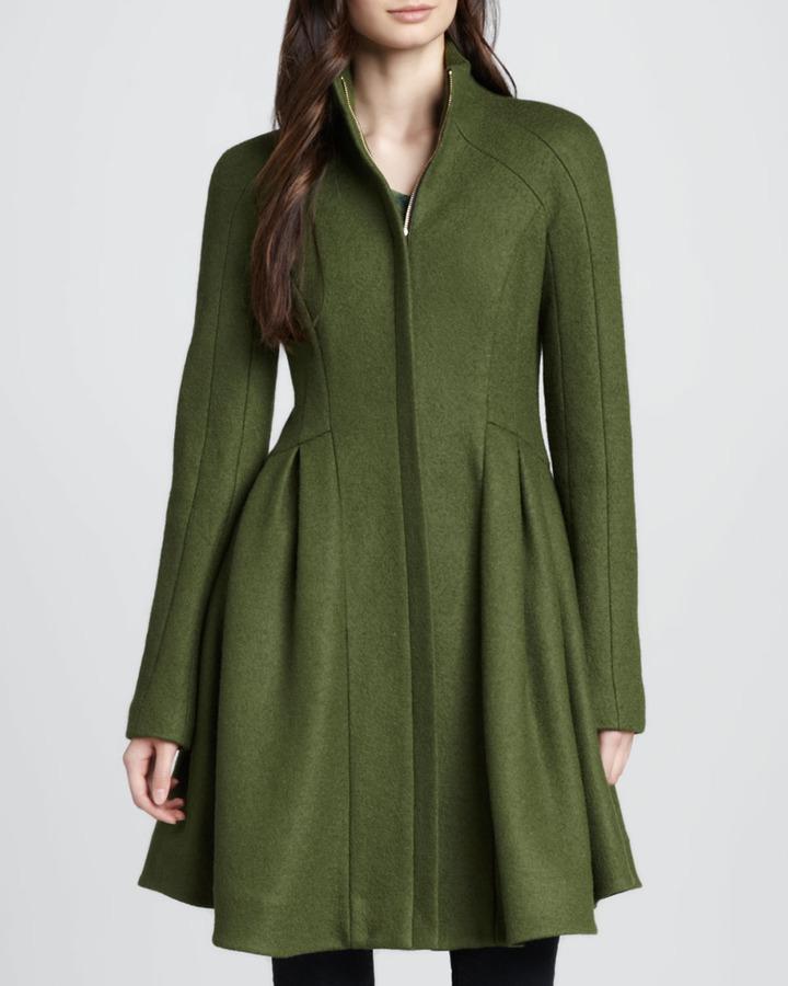 Nanette Lepore Skyscape A-Line Wool Coat