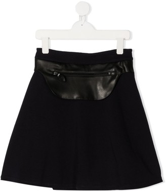 Lanvin Enfant TEEN front pocket A-line skirt