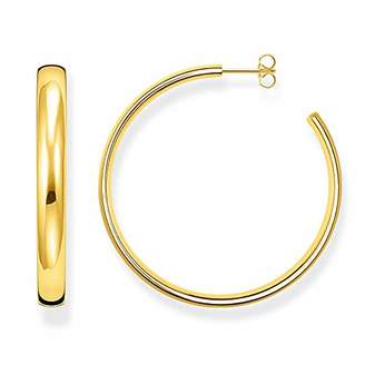 Thomas Sabo Women hoop earrings classic large 925 Sterling Silver; 18k Yellow Gold Plating CR641-413-39