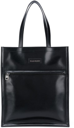 Alexander McQueen Logo Patch Tote Bag