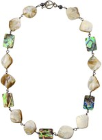 Mother of Pearl Gisy Qadira & Silver Necklace