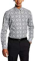 Venti Men's Slim Fit Business Shirt - Grey -