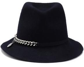 Stella McCartney Chain-embellished Wool-felt Fedora