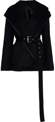 Helmut Lang Belted Wool And Cashmere-blend Felt Hooded Jacket