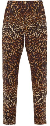 F.R.S For Restless Sleepers Etere Leopard-print Silk-crepe Trousers - Animal