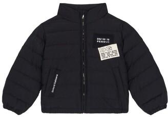 Dolce & Gabbana Kids Logo-Patch Padded Jacket (8-12 Years)