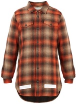 Off-White Checked cotton-blend shirt