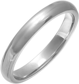 Theia Unisex Super Heavy 3 mm Court Shape Silver Wedding Ring - X