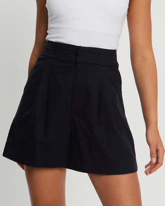 Willa - Women's Navy High-Waisted - Harmony Shorts - Size One Size, 8 at The Iconic