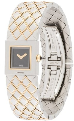 Chanel Pre Owned Matrasse Two-Tone Wrist Watch