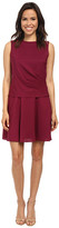 Donna Morgan Sleeveless Charmeuse Twofer Dress