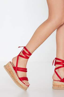 Nasty Gal Womens Step Outside Tube Wrap Sandals - red - 3
