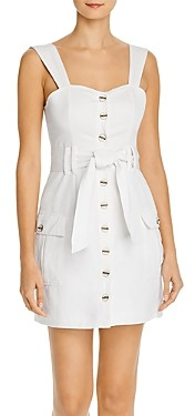 Red Carter Cargo Belted Mini Dress