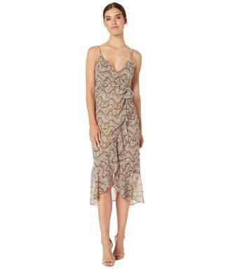 Bardot BAU7N) Women's V-Neckline w Adjustable Slim Straps Party Dress