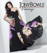 Mon Cheri TB Evenings by Mon Cheri - TBE11552 Long Dress In Black Green Multicolor