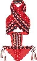 Tabula Rasa - Anat Macramé Cotton Bikini - Claret