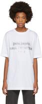 Palm Angels White Reflective Logo T-shirt