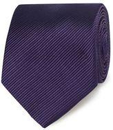 Jeff Banks Purple Silk Striped Tie