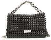 Stella McCartney 'Becket' Woven Faux Leather Shoulder Bag - Black