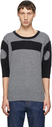 Random Identities Grey Wool and Cashmere Morse Code Sweater