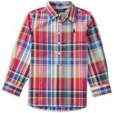 Ralph Lauren Girls' Plaid Poplin Popover Shirt - Sizes 2-6X