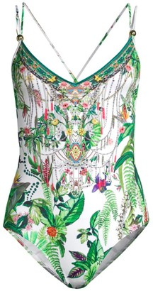 Camilla Daintree Darling Tropical-Print One-Piece Swimsuit