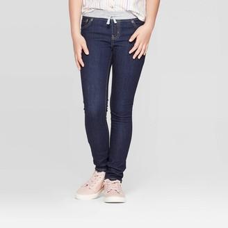 Cat & Jack Girls' Knit Waist Jeans - Cat & JackTM Dark Wash