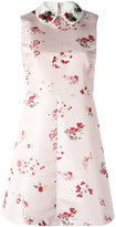 RED Valentino lady bug embellished collar dress - women - Polyester/Acetate/Viscose - 40