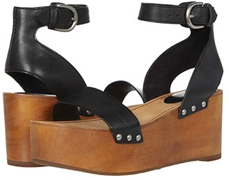Frye Alva Flatform Sandal (Black) Women's Shoes