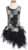 Biscotti Modern Princess Floral Lace & Tulle Dress (Little Girls & Big Girls)