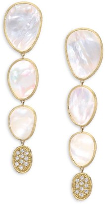 Marco Bicego Lunaria White Mother-Of-Pearl & 18K Yellow Gold Drop Earrings