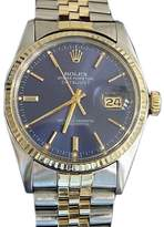 Rolex 16013 2Tone 14K Gold/Stainless Steel Datejust w/Jubilee Band Blue Dial Watch