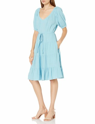 Rebecca Taylor Women's Short Sleeve Double Gauze Dress