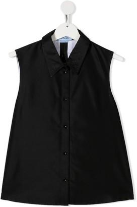 Mi Mi Sol Embellished Sleeveless Shirt