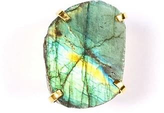 Tiana Jewel Laurie Labradorite Gold Cuff Ring