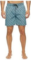 Mr.Swim Mr. Swim - Triangular Printed Dale Swim Trunk Men's Swimwear