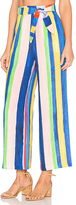 Mara Hoffman Tie Front Pant in Blue. - size 2 (also in )