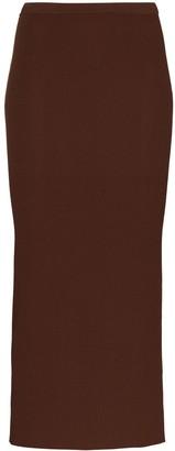 Totême Espera ribbed-knit midi skirt