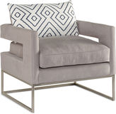 Brownstone Upholstery Bevin Accent Chair, Light Gray Linen