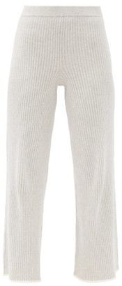 Skin Maddie Cotton-blend Pyjama Trousers - Light Grey